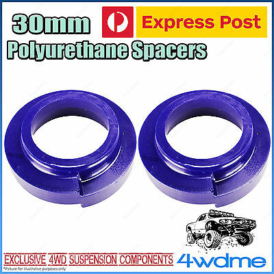 Pair Toyota Prado 120 Series Rear 30mm Coil Spring Polyurethane Spacers