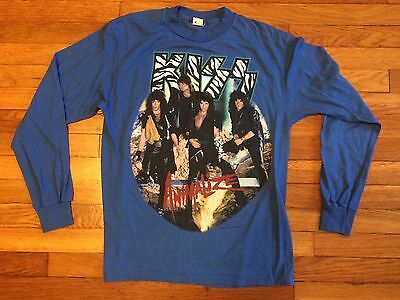 Rare VTG Kiss Animalize 80s Too Loud Too Old Thin LS Concert Tour Shirt True