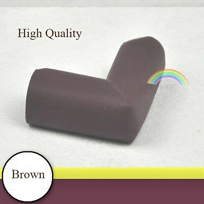 8Pcs Baby Safety Anti-collision Protector Cushion Table Corner Anti-crash Brown