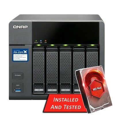 QNAP TS-531X-8G 5 Bay NAS for SMBs Quad Core 2x 10G LAN 8GB - 30TB WD Red