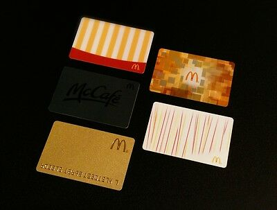 2014 Mcdonalds Gift Card / Arch Card - Set Of 5Pcs. --- For Collectible