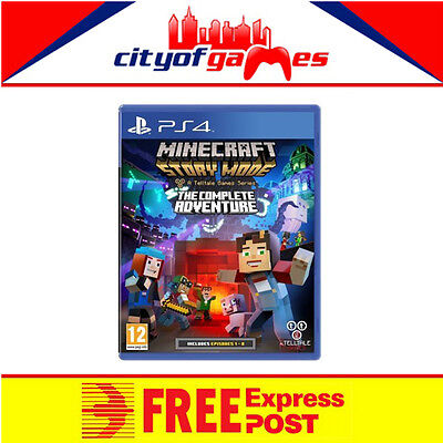 Minecraft Story Mode The Complete Adventure PS4 Game New & Sealed In Stock