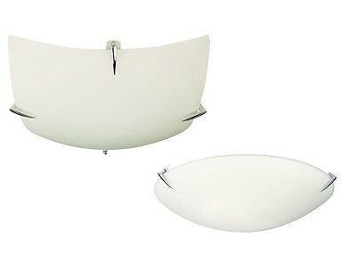 LED Opal Oyster Light Square or Round 1 or 2 Light 30cm or 40cm Ceiling Lights