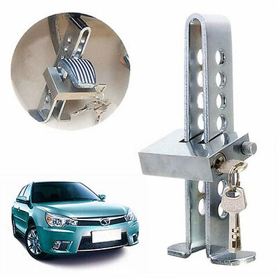 Car Auto Anti-theft Device 8 Hole Clutch Brake Stainless Security Lock Chrome