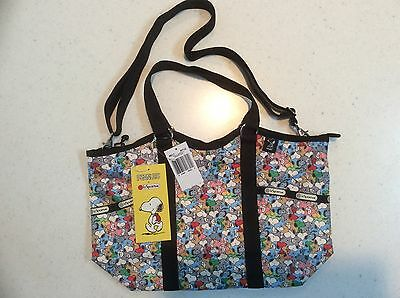 NWT Lesportsac Peanuts Snoopy Mini SMALL CARRYALL Tote Limited Edition