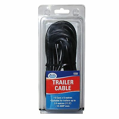 Ark AUTO TRAILER CABLE Quality Copper Core, 4 AMP Rated *Aust Brand - 5m Or 10m
