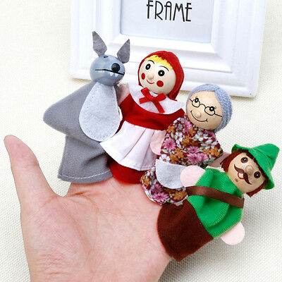 Little Red Riding Hood Story Play Game Finger Puppets Toys Set Gift
