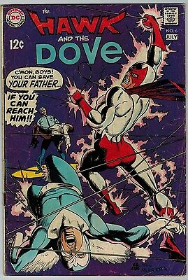 The Hawk and the Dove #6 1969 (C5989) DC Comics Silver Age Final Issue