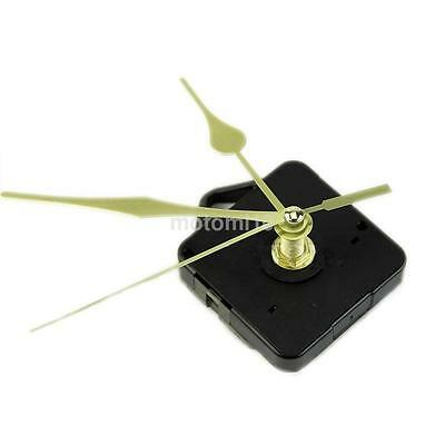 Simple Gold Hands DIY Quartz Wall Clock Movement Mechanism Replacement Parts Kit