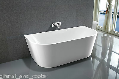"Bathroom Acrylic Free Standing Bath Tub 1500x750x580 Freestanding ""Back to Wall"""