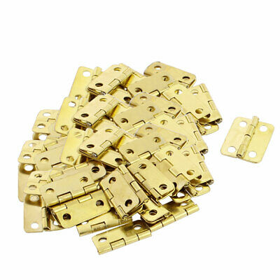 Door Jewelry Box Case Rectangle Folding Hinge Gold Tone 16mmx13mm 100pcs