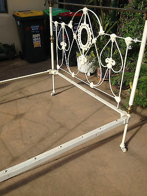 1900's ART NOUVEAU antique cast iron double bed   -   pick up from Tempe 2044