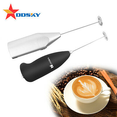 Professional Coffee Latte Hot Chocolate Milk Frother Whisk Frothy Blend Mixer