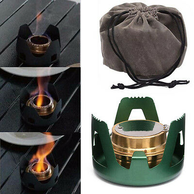Spirit Burner Alcohol Stove Outdoor Backpacking BBQ Camping Furnace with Stand