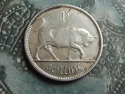 irish shilling coin 1928 nr mint condition