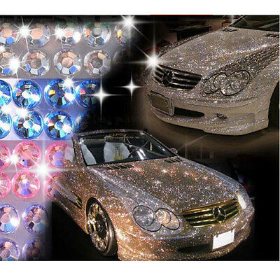 Removable Car Bike Motorcycle Self-Adhesive Diamante Stick On Acrylic Crystal