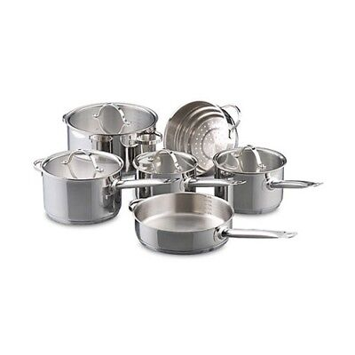 New Baccarat Signature Stainless Steel 6 Piece Cookware Set