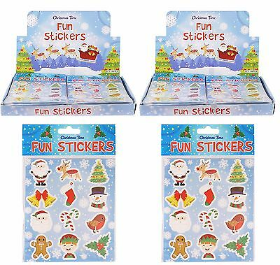 12 Christmas Fun Stickers Childrens Crafts Stocking Sticker Book Gift Wrap