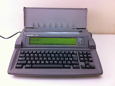 Sharp Fw-550 Font Writer Personal Word Processor With Built In Printer - Retro