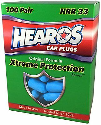HEAROS Earplugs - Xtreme Ear Protection Series 100 Pair - #1 Recommended Ear by