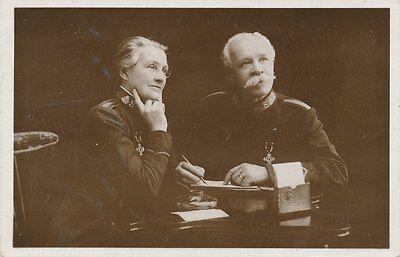 Two Salvation Army Officers Real Photo Postcard