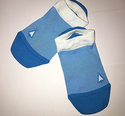 SOLD OUT! NEW IVIVVA by Lululemon EVERYWHERE SOCKS White Blue Striped Dance SZ M