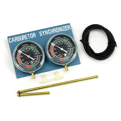 Motorcycle Carb Carburettor Vacuum Balancer Gauge 2 Cylinder Gauges Balancing
