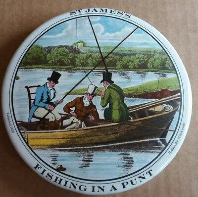 A G Hackney & Co 'Fishing in a Punt' St James's Relish Pot Lid