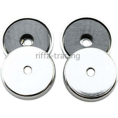 36mm Ferrite Magnets, Disc Disk Round, Through Hole Mounting,Pot,Craft DIY,7.2kg