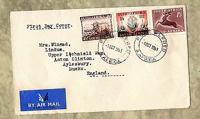 SOUTH AFRICA First Day Cover 1953 PORT ALFRED Airmail STAMPS Envelope