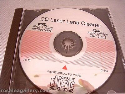 CD Laser Lens Cleaner W/Voice & Music Instructions