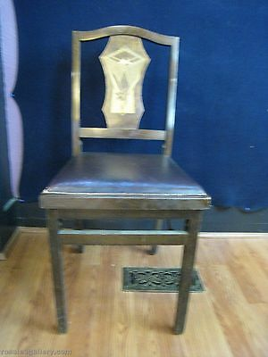 Vintage Solid Kumfort Wood Folding Chair #1