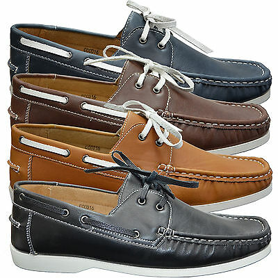 Mens Designer Lace Up Casual Boat Deck Moccasin Loafers Smart Driving Shoes Size