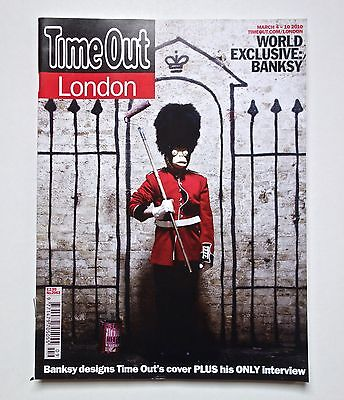 Time Out London Magazine Banksy Cover & Interview Regular Edition New Not Signed