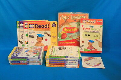 Your Baby Can Read! Early Language Development System DVD Cards Books 16 Pc Set