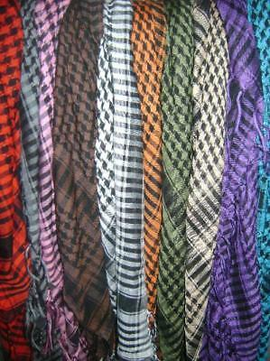 10 Funky Colors Wholesale Joblot Shemagh Scarves Winter