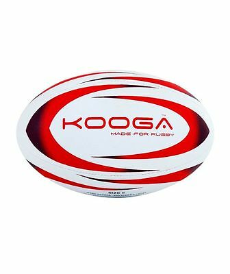 Kooga Durban Rugby Training Ball White/red Size 5
