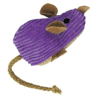 Cat Supplies Kong Corduroy Mouse Cat Toy - with EXTRA FREE 20g bag of catnip