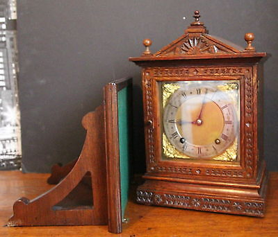 An Antique Winterhalder & Hoffmeir 8 Day Bracket Clock & Bracket
