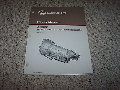 2000 Lexus GS300 LS400 GS400 A650E Transmission Shop Service Repair Manual