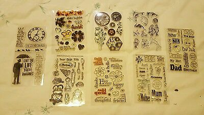 Job Lot (Bundle) Clear Stamps Rubber Stamping  Mostly Brand New And Sealed