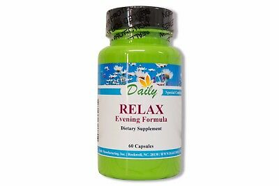 Daily Manufacturing Relax Evening Formula - 60 Capsules