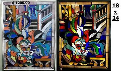 Stained glass pictures hand made. This is not a China.  make your choice