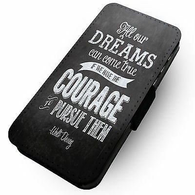 All Our Dreams Can Come True - Printed Faux Leather Flip Phone Cover Case