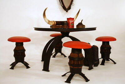 WILD WEST   table -  stools  - horse harness mirror HANDCRAFTED  tabouret miroir