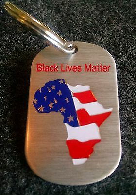 BK Tags 'BLACK LIVES MATTER!' African American flag keychain