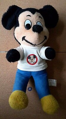"Vintage 15"" Mickey Mouse Club 1960s Stuffed Cloth/Plush Toy"