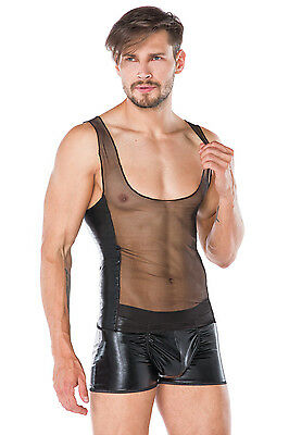 2er Set Top + Shorts Wetlook Wäsche schwarz Gr. S/M L/XL 2XL/3XL **MWA898 • EUR 29,99