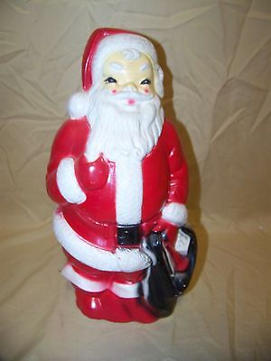 """Vintage 1968 Empire 13"""" Santa Claus Blow Mold In Great Used Condition"""