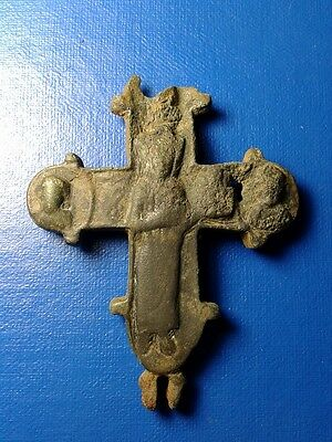 Ancient Bronze Crosses-encolpions. 10th to the mid-14th century. Big !!!